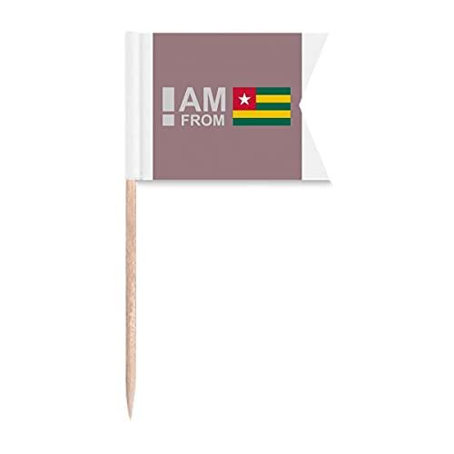 I Am from Togo Art Deco Geschenk Mode Zahnstocher Flaggen Kennzeichnung für Party Kuchen Lebensmittel Käseplatte