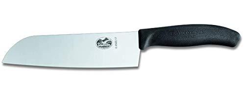 Victorinox Swiss Classic Couteau de Cuisine/Santoku, Lame de 17 Cm, Acier Inoxydable, Boîte Cadeau, Noir