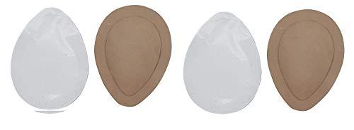 2 Paar Orthopädische Mittelfuß Pelotten weiß oder braun Leder Spreizfuß-Pelotte in Tropfen-Form Spreizfuß, Unisex - Erwachsene Einlegesohle, Doppelpack (braun, Numeric_41)
