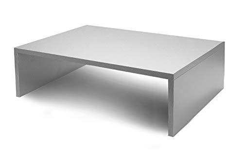 PRACUJ ZDRAVE A3 + Monitorständer Laptopständer Bildschirmständer 48 x 30 x (5/10 / 15/20) cm … (Silber, 15)