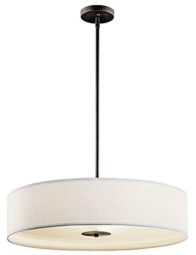 Kichler 42122OZ Semi Flush Drum Pendant Lighting, Bronze 3-Light (24
