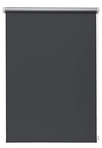 Beyond Drape Thermo-Rollo ohne Bohren Verschiedene Größen und Farben Verdunkelungsrollo Seitenzugrollo Klemmrollo Blackout Silberbeschichtung Graphite 90x210 cm