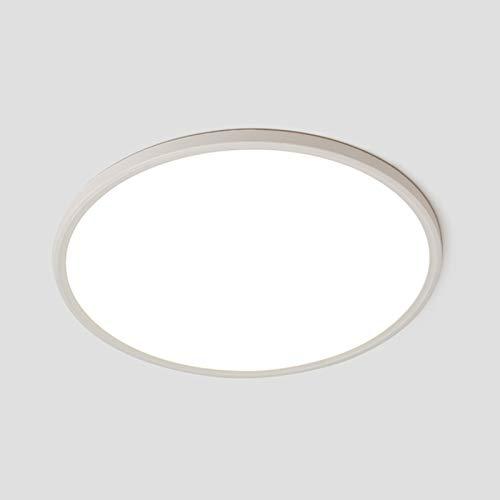 Panel LED de techo moderno redondo de 30 W, luces empotrables ultrafinas,...