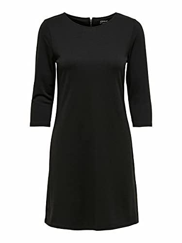 ONLY NOS Damen Kleid Onlbrilliant 3/4 Dress Jrs Noos, Schwarz (Black), 40 (Herstellergröße: L)