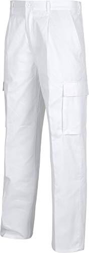 Work Team Pantalón. Elástico en cintura, multibolsillos: dos bolsos laterales en perneras. HOMBRE Blanco 38