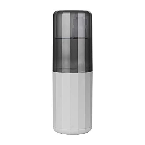 Mengmengda Juego de vasos de enjuague bucal de viaje con 3 botellas de spray Fortable para cepillo de dientes, soporte para tazas, vasos de viaje, dispensador de jabón