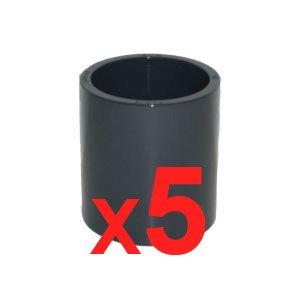 PISCINEO Lot de 5 Manchons à Coller PVC Pression diam. 50