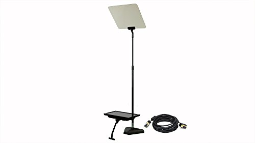 """Telmax 15"""" Teleprompter Bundle, Includes 2x TSP15 Teleprompter, 3x 25' Cables, 1x 4-Port VGA Splitter, ZaPrompt Pro Software"""