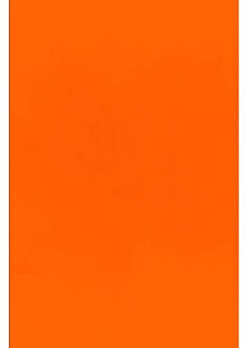 A4 Transferfolie/Textilfolie zum Aufbügeln auf Textilien - perfekt zum Plottern - einzelne Folien, P.S. Film:Neon Orange