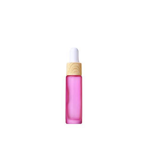 IKulilky 10ML Flacon Compte-Gouttes en Verre, Réutilisables Spray Bottle Blanc Cover Small Perfume Bottle Compte-Gouttes Épaisse Flacon Compte-Gouttes