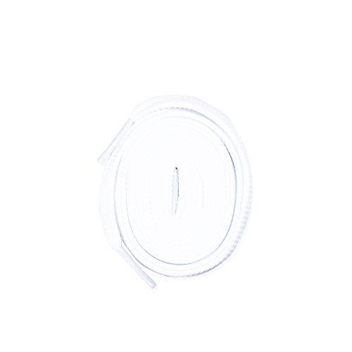 LitLaces – flache Polyester-Schnürsenkel Ersatz für Jordan 1, 2, 3, NMD, Ultra Boost und mehr., Gelb (weiß), 36