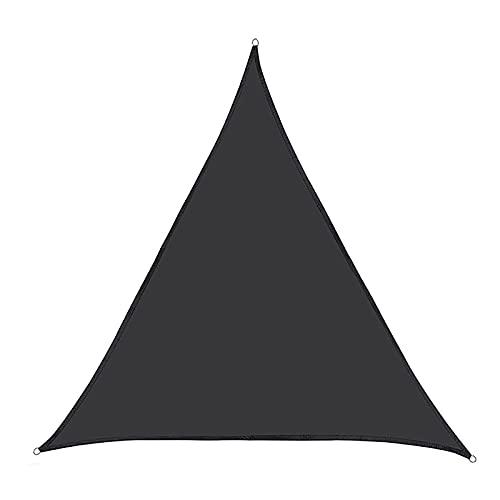 KLFSJD Toldo de vela triangular, impermeable, protección contra vela y protección UV para toldos al aire libre para patios (5 x 5 x 5 m), color negro