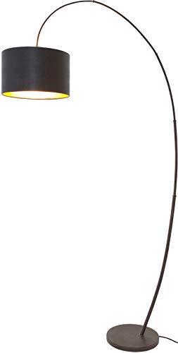 Bamboe Arco ijzeren booglamp staande lamp in zwart bruin zwart | handgemaakte kwaliteit uit Duitse fabriek | vloerlamp modern dimbaar | lamp E27