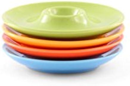 Preisvergleich für Friesland Porzellan 4er-Set Eierbecher/Eierteller 13cm Happymix Bunt