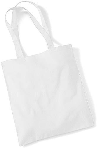 Westford Mill – Sac à main en toile Disponible en 29 couleurs. Idéal pour travaux manuels, sérigraphie., Tissu, blanc, taille unique