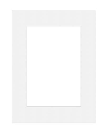 Deha Passepartout 60x80 cm für Bilder im Format 40x60 cm, Hellweiß