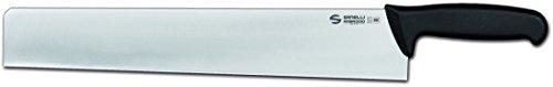 Coltello professionale in acciaio all'azoto, lama satinata Affilatura finale di ogni singolo pezzo con controllo del profilo al laser Manico ergonomico, atossico, antiscivolo e resistente all'abrasione Ottima aderenza tra lama e manico per una grande...