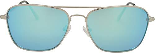 SQUAD Polarizadas Gafas de sol Para hombre y mujer, Clásicas Cuadradas Gafas ligeras, protección UV400, Metálico Con cierre de aro, lentes de azul espejo