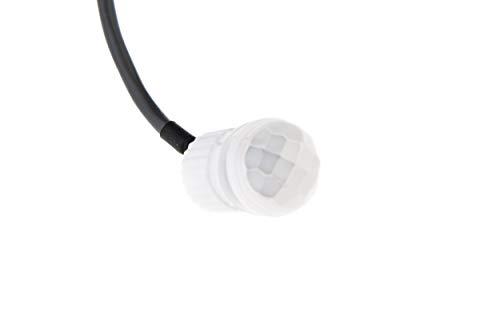 HUBER Motion 19 Mini PIR Bewegungsmelder 120° / 360° für Innen/Außenmontage I SensorIP65 I 230V Einbau Bewegungsmelder klein, inkl. Potentiometer, 3-Draht-Technik