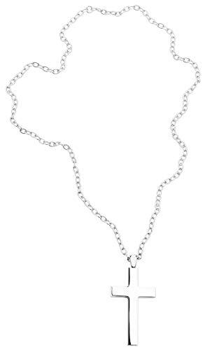 etNox hard and heavy Big Plain Cross Unisex Halskette Standard Edelstahl Basics, Fashion & Style