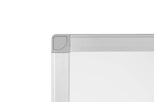 BoardsPlus - Lavagna Magnetica Bianca, 60 x 45 cm, Lavagna Cancellabile A Secco Con Cornice Sottile In Alluminio Anodizzato, Superficie In Acciaio Laccato