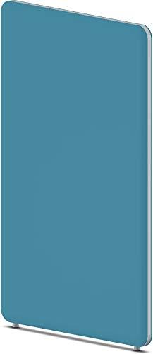 Bümö sedus sedus: Wall akoestische scheidingswand kantoor geluidsbescherming muur & inkijkbescherming systeem - 1 element, geluidsbeschermingsklasse A modern Höhe: 160 cm | Breite: 100 cm turquoiseblauw