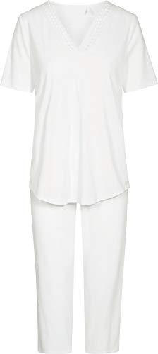 Rösch Damen-Schlafanzug Interlock-Jersey weiß Größe 42