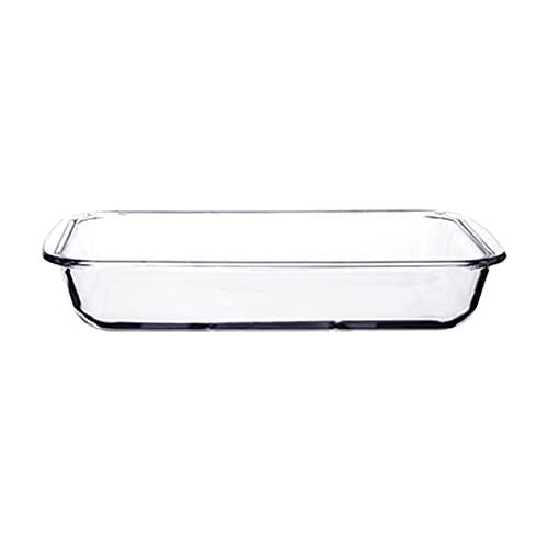 Juegos De Utensilios Para Hornear Claro de vidrio para hornear horno Casserole Casserole para hornear platos, cocinar con cazuela oblongo plato rectangular para hornear cena de vidrio de vidrio, 1 pie