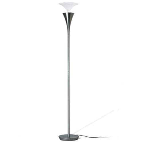 Lámpara de pie led con regulador de intensidad, serie Funnel, color niquel, 40 x 40 x 197 centímetros (referencia: 199830)