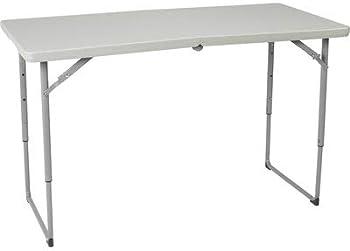 Ironton 4ft. x 2ft. Adjustable Height Plastic Folding Table