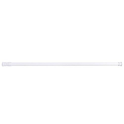 Tringle de rideau de douche extensible - Par Gemini_mall® - Barre de tension - Blanche - 55 à 90 cm - Pour rideau en filet et voilages légers, Métal, blanc, 70 - 120cm