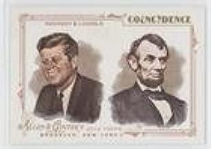 John F. Kennedy; Abraham Lincoln (Baseball Card) 2014 Topps Allen & Ginter's - Coincidence #AGC-01