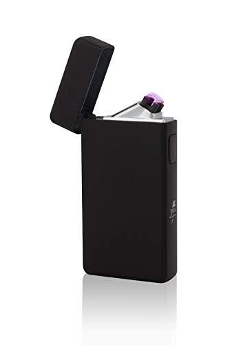 TESLA Lighter T13 Lichtbogen-Feuerzeug, elektronisches USB Feuerzeug, Double-Arc Lighter, wiederaufladbar, matt Schwarz