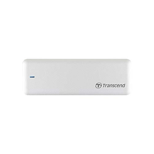 """Transcend JetDrive 725 - Disco duro sólido interno SSD de 960 GB para MacBook Pro (Retina) de 15"""" y carcasa USB 3.0, color plateado"""