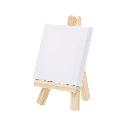 Folewr-8 Kleiner Staffelei aus Holz mit Mini-Bilderrahmen aus Leinwand für Dekoration, Schönheit, Zeichnung 7x12cm et 7x7cm