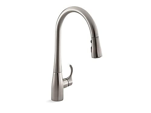 KOHLER K-596-VS Simplice Kitchen Faucet, Vibrant Stainless, 9 x 10.5 x 16.6 inches