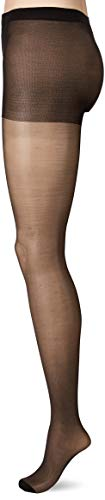 Pretty Polly dames 10d Gloss Tights panty, 10 DEN, zwart zwart, Large (fabrikantmaat: ML) (verpakking van 3)