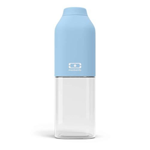 monbento - MB Positive Trinkflasche bpa frei - Tritan Trinkflasche (M (500ml), Crystal)