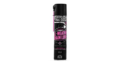 Muc Off All-Weather Motorcycle Chain Lube, 400 Milliliters - Premium Motorbike Chain Lubricant Spray...