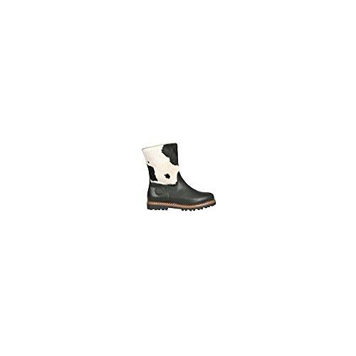 Ammann of Switzerland Crans Mid Calf Boot Black White 36