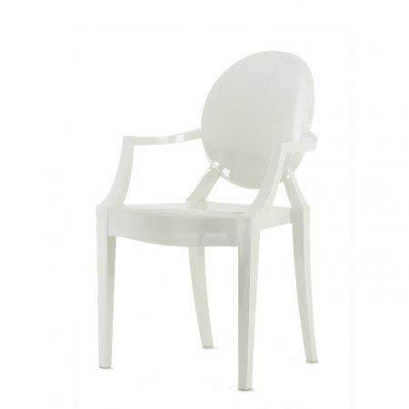 Kartell - Louis Ghost - blanco brillante - Philippe Starck - Silla de cocina - Silla de comedor - Diseño - Silla de comedor - Silla de habitación infantil