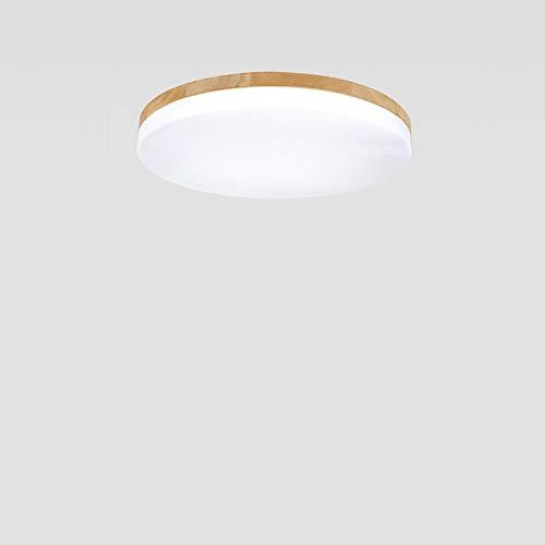 Mogicry Modernes rundes Schlafzimmer-Küchen-Wohnzimmer führte Deckenleuchte-hölzernes Eisen Dimmable-Beleuchtungs-Deckenverkleidung-Licht-Handelsgeschäfts-Haushalts-energiesparende LED-Glaslampe