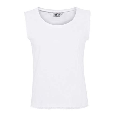 Hess Damen Trachten-Mode Trachtenshirt Steffi in Weiß traditionell, Größe:40, Farbe:Weiß