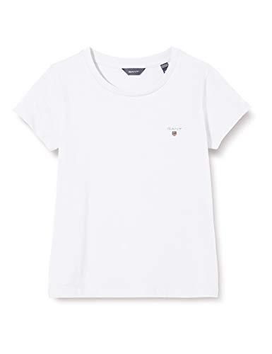 GANT Mädchen The ORIGINAL Fitted SS T-Shirt, Weiß (White 110), 152 (Herstellergröße: 146/152)