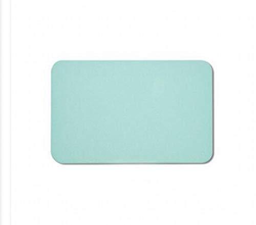 MU Reine Farbe Diatomeen Schlamm Bodenmatte Tür Wasseraufnahme und schnell trocknende Badezimmer Badezimmer Matte Diatomee Erde Matte,Grün,45 × 35 cm