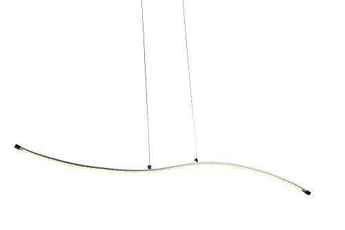 Led Decore ONA - Lámpara colgante, aluminio, 10 W, 2 x 90 x 120 cm, color plata