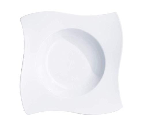 Villeroy & Boch NewWave Pastateller, Porzellan, Weiß, 31.5 x 31.5 x 11.5 cm, 4-Einheiten