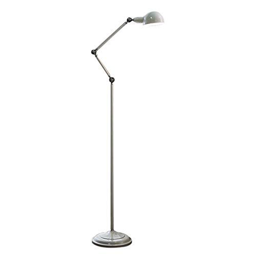 Lámpara de pie creativa Nordic Lámpara de pie ajustable de metal brazo de pie Lámpara de poste alto luz del piso de la sala de estar dormitorio de noche oficina de la esquina, H: 156-180CM Lámpara de