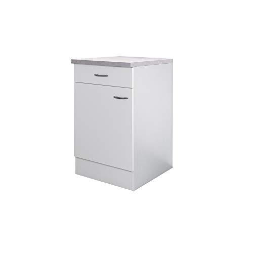 Flex-Well Küchenschrank UNNA - Unterschrank - 1-türig, 1 Schublade - Breite 50 cm - Weiß