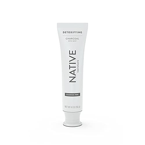 Native Toothpaste Charcoal with Mint Fluoride Free Toothpaste, 4.1 oz
